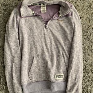 Pink quarter zip sweatshirt XS